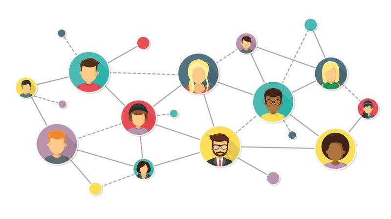 Symbolbild eines Netzerks, hier am Beispiel von persönlichen Assistenten und Assistenznehmern.