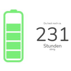 Bild von Budgetübersicht: Batterie auf Grün